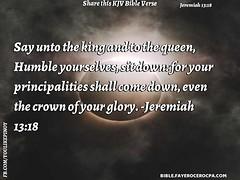 Jeremiah 13:18 (jhungalang) Tags: jeremiah 1318