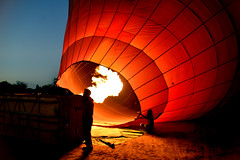 Bagan hab 1 (Neal J.Wilson) Tags: asia asian burma burmese myanmar bagan hot air balloon ballooning flying red flame