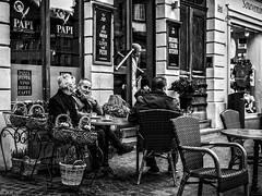 Relaxing time (michaelhertel) Tags: heidelberg germany deutschland people street sw bw monochrome travel