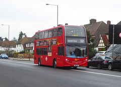 GAL EH8 - SN61BLV - ELTHAM ROAD - SAT 16TH FEB 2019 (Bexleybus) Tags: goahead go ahead london eltham road se9 south east tfl route 321 hybrid adl dennis enviro 400 eh8 sn61blv