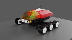 Venus Works Beetle: Febrovery 2019 (David Roberts 01341) Tags: lego ldd mecabricks render buggy rover minifigure robot 6x6 vehicle future scifi