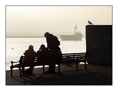 People watcher (exreuterman) Tags: em1ii olympus m43 viltrox focalreducer adapter legacy lenses canon ef 85mmf18 usm leighonsea essex southend oldtown