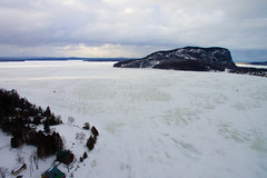 Mount Kineo From Above (Northern Wolf Photography) Tags: clouds drone ice kineo lake moosehead mount mountain phantom3 sky standard town winter rockwood maine unitedstatesofamerica us