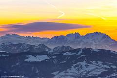Sonnenuntergang am Säntis (PADDYSCHMITT.DE) Tags: sonnenuntergang säntis hochgrat sunsetsäntis abenddämmerung berge mountains winterimallgäu
