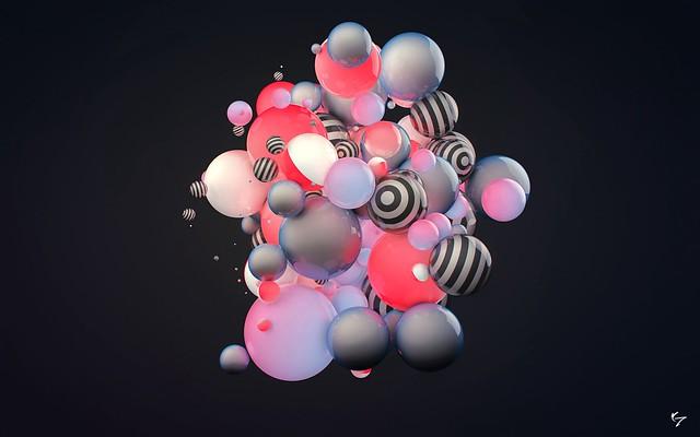 Обои шары, разноцветный, свет, форма, полосы картинки на рабочий стол, фото скачать бесплатно