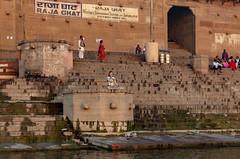 Varanasi, India (Ninara) Tags: varanasi india uttarpradesh ghat ganges ganga gangaaarti sadhu nagasadhu sunrise morning bathing holycity meditation rajaghat kashi benares yoga