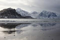 Panorama (Fabio Tenuti) Tags: lofoten norvegia fiordi canon inverno ghiaccio neve sabbia acqua mare riflessi grigio marrone pace tranquillita silenzio outside