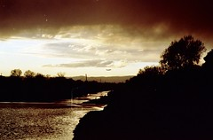 Decollo (michele.palombi) Tags: decollo film 35mm florence arno kodak portra400 sunset aereo nuvole analogic c41 negativo colore