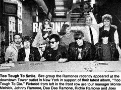 The Ramones at New York Tower Records in 1984 (80snyradioscrapbook) Tags: punk recordstore signing newyork manhattan tower ramones 1984 tootoughtodie record