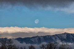 March 23, 2019 - The setting moon as seen from the foothills. (Tony's Takes)