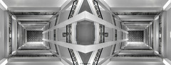 Treppenhaus Handwerkskammer gespiegelt (petra.foto busy busy busy) Tags: treppenhaus schwarzweis monocrom gespiegelt art architektur hamburg germany blicknachoben fotopetra
