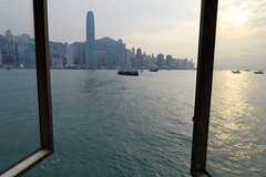 View from Central Pier, Hong Kong (Thierry Hoppe) Tags: view starferry terminal window centralpier hongkong central district water sea harbour