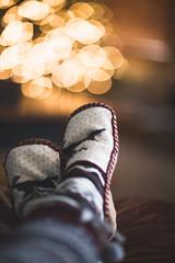 (Rebecca812) Tags: christmas socks slippers relaxation christmaslights christmastree feetup rebeccanelson rebecca812 canon