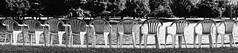 The line is waiting (Maureen Pierre) Tags: blackandwhite mono chair panorama xt2 fujifilm line waiting