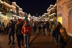 Main Street, U.S.A. At Night (Joe Shlabotnik) Tags: disneyland disneylandparis violet everett paris france april2018 eurodisney sue disney 2018 afsdxvrzoomnikkor18105mmf3556ged