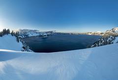 Crater Lake (Al Case) Tags: 6photo photomerge crater lake snow winter nikon samyang wideangle 14mm f28 ed as if umc al case oregon landscape rokinon d750