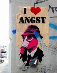 - (txmx 2) Tags: hamburg streetart archive reloaded emart angst poster stencil