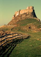 Lindisfarne Castle built 1550 (gcobb84) Tags: castle old landscape fence people