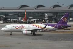 Thai Smile (So Cal Metro) Tags: airline airliner airplane aircraft plane jet aviation airport hongkong hkg