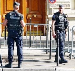"""bootsservice 18 820199 (bootsservice) Tags: police """"police nationale"""" policier policiers policeman policemen officier officer uniforme uniformes uniform uniforms paris"""