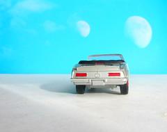 Corgi Toys No. 343 Pontiac Firebird 1969 With Red Spot Wheels : Diorama Futuristic Double Moon - 7 Of 13 (Kelvin64) Tags: corgi toys no 343 pontiac firebird 1969 with red spot wheels diorama futuristic double moon