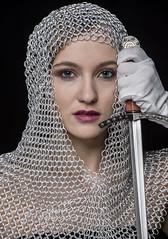 LRC_4617  Medeivel head dress sword CropHRjpg (lkralston417) Tags: woman medeviel sword beautydish lindaralstonphotography