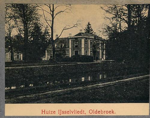Mooi Nederland kalenderplaatjes 1907 II   Oldebroek huis Ijsselvliedt