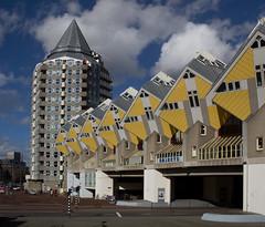 Rotterdam - Kubuswoningen (Grotevriendelijkereus) Tags: rotterdam netherlands nederland zuid holland center centrum city stad town gebouw building architecture architectuur structuralism structuralisme modern house huis piet blom