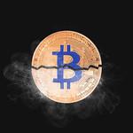 Bitcoin broken in half with smoke thumbnail