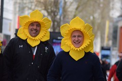 Daffodils (jan.ashdown) Tags: faces people streetphotography street cardiff daffodil rugby wales
