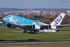 JA381A Airbus A380 All Nippon (@Eurospot) Tags: ja381a airbus a380 ana toulouse blagnac allnippon
