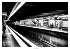 Back in the Tube ... (michel di Méglio) Tags: marseille gare station subway underground metro olympus zuiko bw monochrome silverefexpro france lightroom photoshop lightandshadow