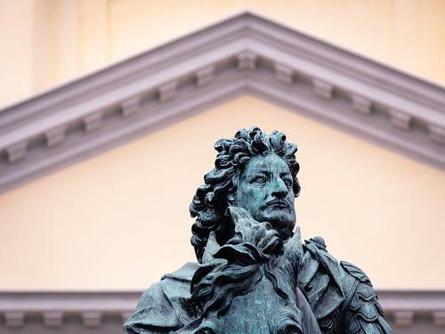 Reiterstandbild des Großen Kurfürsten im Eingangsbereich des Schlosses Charlottenburg