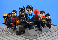 Children of the Bat (-Metarix-) Tags: lego super hero minifig batman dc comics comic nightwing robin redhood redrobin spoiler signal orphan gotham sidekicks