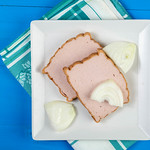 Flat lay above Meatloaf slices on the plate thumbnail
