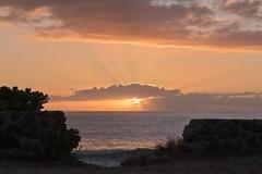 Sunset at Ulehawa Beach Park 2 (Fletch in HI) Tags: nikon d5600 tamron 16300 sky clouds water ocean oahu hawaii