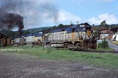 Big ALCOs, Small Town (NSHorseheadSD70) Tags: robert tokarcik dh delaware hudson afton ny new york alco c628 trains railways railroads locomotives