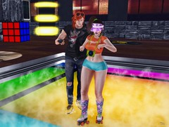 Ploc Party \o/ (Thi ;)) Tags: love couple party ploc colorful green blue red yellow ginger redhead sl pic secondlife gente club