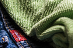 Woven cloth (sniggie) Tags: macromondays cloth jeans microfibercloth woven denim