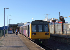 Heysham Port (Treflyn) Tags: term boattrain conjure more exotic image twocar pacer unit diesel multiple northern class 142 dmu 142088 heysham port harbour daily service train lancaster connect manx isle man ferry only each day visit station branch line morecambe