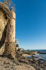 Back View of the Pirate Tower of Victoria Beach at Laguna Beach, CA. (SCSQ4) Tags: backview beach california californiacenterfordigitalarts castle lagunabeach ocean photomeetup seascape victoriabeach