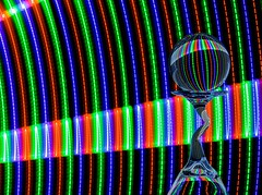 Beam (Karen_Chappell) Tags: led light lights black rgb red green blue refraction glass orb sphere ball circle round stilllife longexposure lightpainting colourful multicoloured colours colour color curve arc curves lines