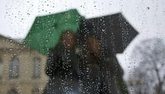 Rainy Day (The Vintage Lens) Tags: rain reflective umbrellas girls