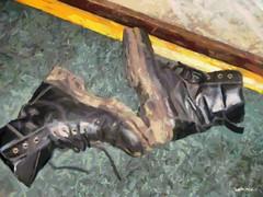 Забытые ботинки. Кафе Метро. Москва, 2009. Forgotten boots. Metro cafe. Moscow, 2009  #искусство #художество #ботинки #туфли #art #paint #boots #safronoviv (SafronovIV) Tags: ботинки туфли художество art boots paint safronoviv искусство