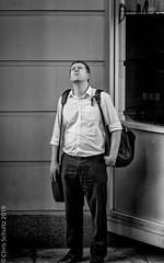 Look - up in the sky,,,,,, (MoiVous) Tags: commuting hindleystreetprecinct streetlife
