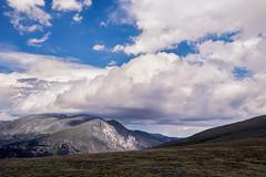 Head in the Clouds (Peter Weckesser) Tags: grass landscape alpine nationalpark colorado rockymountainnationalpark mountains landscapes us places clouds estespark unitedstatesofamerica