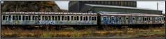 Pasty (Mark Wasteney) Tags: graffiti train abandoned wreck decay westcountry devon dartmoor panoramic photostitch meldon dartmoorrailway carriage