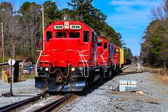 Big Red One (BravoDelta1999) Tags: carolinacoastal clna railroad norfolksouthern ns railway northcarolina emd gp9r gp9rm 4630 4012 4628 manifest train 119 chocowinity