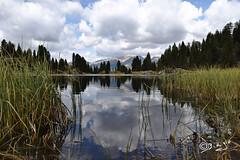Lago di Colbricon-Italy (Biagio ( Ricordi )) Tags: lago lake montagna trentino italy nuvole riflessi colbricon passorolle paneveggio parco natura