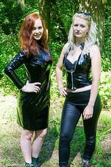 Two vinyl friends (sexyrainwear_dot_online) Tags: vinyl pvc latex leather lack leder boots overkneeboots overknees lackundleder lackleder lackmantel vinylcoat vinyljacket vinylskirt pvcskirt lackjacke lackstiefel